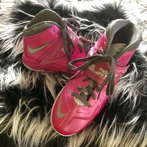 Pink Nike Lebron James high tops